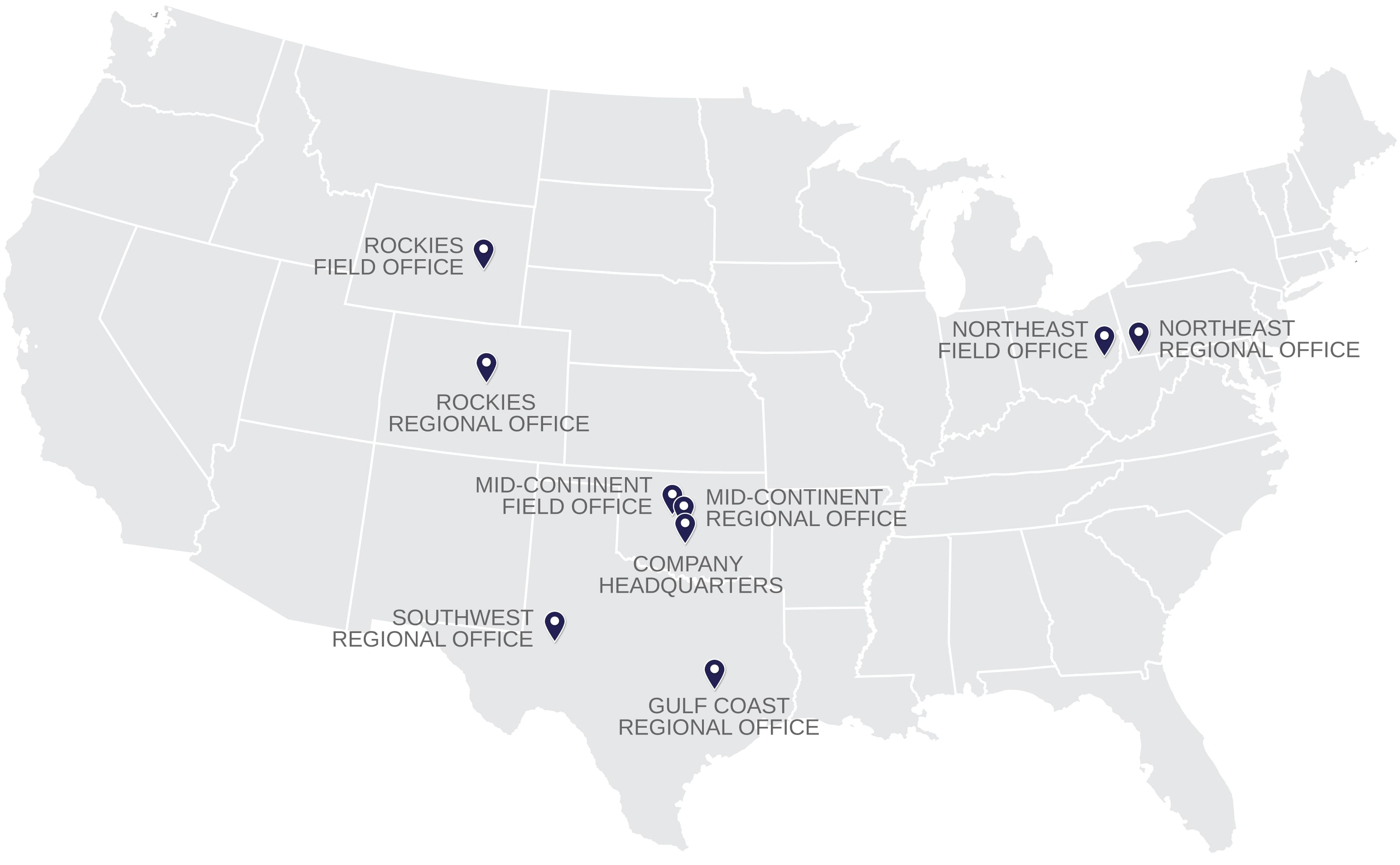 McDonald Land Services   Office Location Map